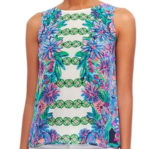 NWT Lilly Pulitzer Iona Shell Silk Top
